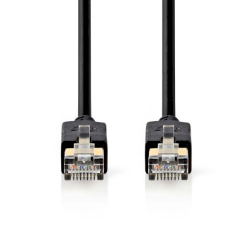 Câble réseau Cat 6 F/UTP | RJ45 (8P8C) Mâle - RJ45 (8P8C) Mâle | 10 m | Anthracite