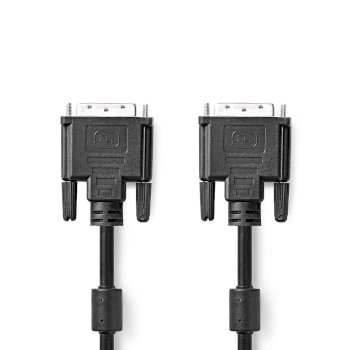 DVI-Kabel | DVI-D 24+1-Pins Male - DVI-D 24+1-Pins Male | 2,0 m | Zwart
