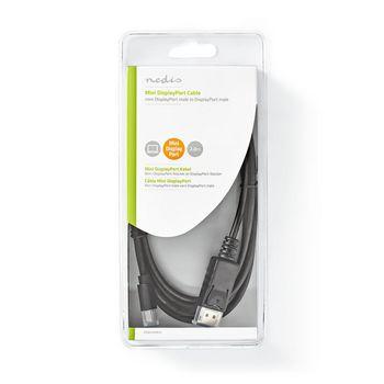 Mini-DisplayPort - DisplayPort-Kabel | 1.4 | Mini-DisplayPort Male - DisplayPort Male | 2,0 m | Zwart