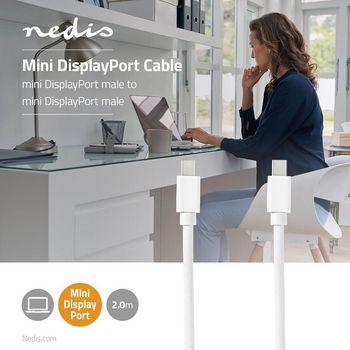 Mini DisplayPort - Mini DisplayPort Cable | Mini DisplayPort Male - Mini DisplayPort Male | 2.0 m | White