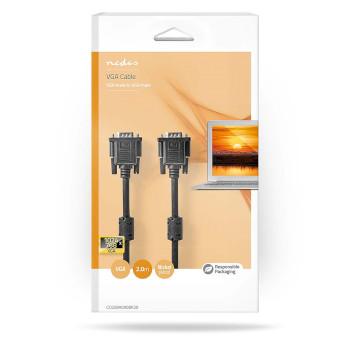 VGA Cable   VGA Male - VGA Male   2.0 m   Black