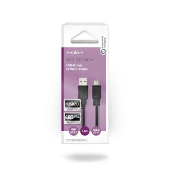 USB 2.0 Cable | A Male - Micro B Male | 1.0 m | Black