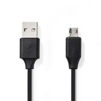 USB 2.0-Kabel   A-Stecker - Micro-B-Stecker, umkehrbar   2,0 m   Schwarz
