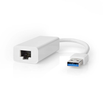 USB 3.0-Adapter | USB-A Male - RJ45 Female | 1 Gbit | 0,2 m | Wit