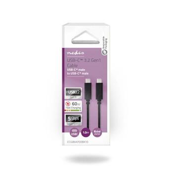USB 3.1 Cable (Gen1) | Type-C Male - Type-C Male | 1.0 m | Black