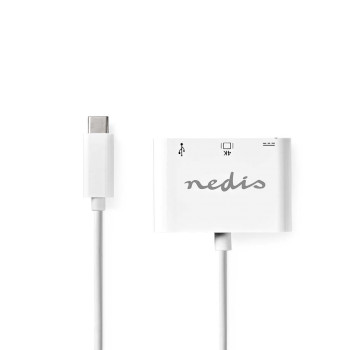 USB Type-C Adapter Cable | Type-C Male - A Female / Type-C Female / HDMI output | 0.2 m | White