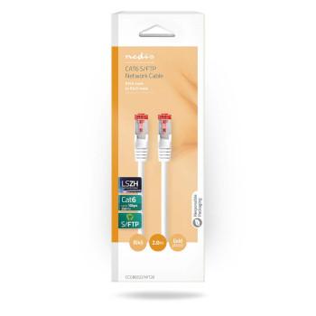 Cable de Red S/FTP CAT6 | Conector RJ45 (8P8C) Macho - Conector RJ45 (8P8C) Macho | 2,0 m | Blanco