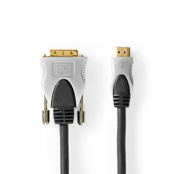 HDMI™ - DVI-Kabel | HDMI™-Connector - DVI-D 24+1-Pins Male | 1,50 m | Zwart