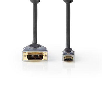 DVI Cable - HDMI™ | DVI-D 18+1-Pin Male -HDMI™ male | 2.50 m | Black