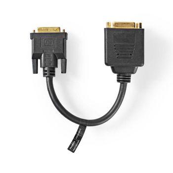 DVI-Kabel | DVI-D 24+1-Pins Male - 2X DVI-D 24+1-Pins Female | 0,2 m | Zwart