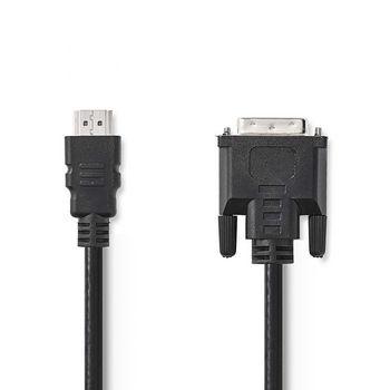 HDMI™ - DVI Cable | HDMI™ Connector - DVI-D 24+1-Pin Male | 5.0 m | Black