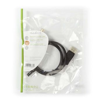 DisplayPort - HDMI™ Cable | DisplayPort Male - HDMI™ Connector | 1.0 m | Black