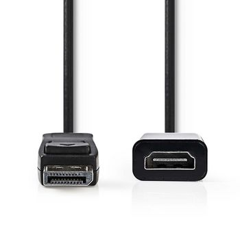 DisplayPort - HDMI™ Cable   DisplayPort Male - HDMI™ ouput   0.2 m   Black
