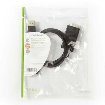 DisplayPort - VGA Cable | DisplayPort Male - VGA Male | 1.0 m | Black