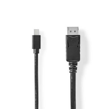 Mini DisplayPort-DisplayPort Kábel | 1.4 | Mini DisplayPort Dugasz-DisplayPort Dugasz | 2,0 m | Fekete