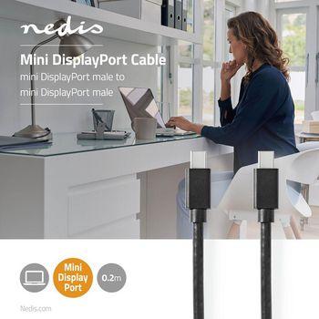 Cable Mini DisplayPort - Mini DisplayPort | Mini DisplayPort Macho - Mini DisplayPort Macho | 2,0 m | Negro