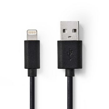 Sync and Charge Cable | Apple Lightning 8-pin Male - USB A Male | 1.0 m | Black