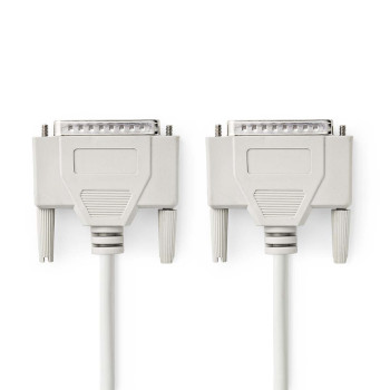 RS232 Cable | D-Sub 25-pin Male - D-Sub 25-pin Male | 2.0 m | Ivory