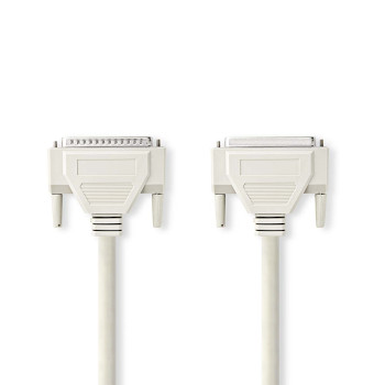 Serial Cable | D-Sub 25-pin Male - D-Sub 25-pin Female | 5.0 m | Ivory