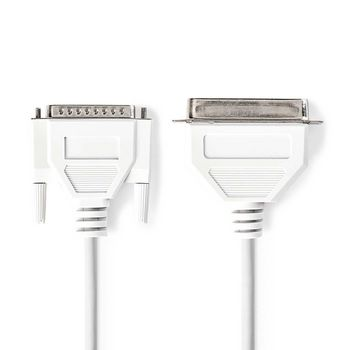 Printer Cable | D-Sub 25-pin Male - Centronics 36-pin Male | 2.0 m | Ivory