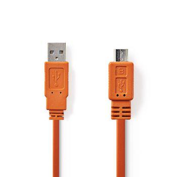 USB 2.0-Kabel | A-Stecker - Micro-B-Stecker | 1,0 m | Orange
