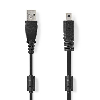 Camera Data Cable | USB A Male - UC-E6 8-pin Male | 2.0 m | Black