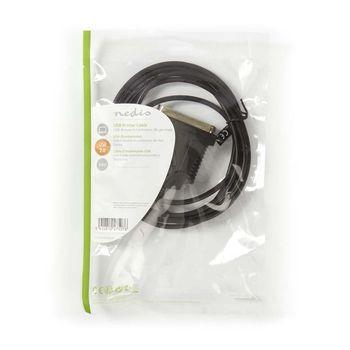 USB Printer Cable | USB A Male - Centronics 36-pin Male | 2.0 m | Black