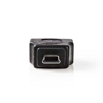 Adattatore USB 2.0 | Mini 5 pin maschio - A femmina | Nero