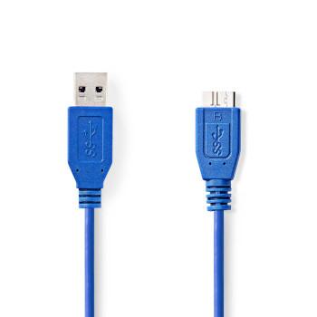 USB 3.0 Cable   A Male - Micro B Male   5.0 m   Blue