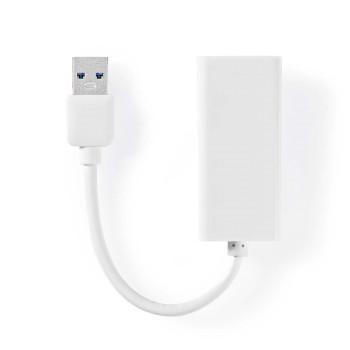 USB 3.0-Sovitin | USB-A-Urosliitin - RJ45-Naarasliitin | 1 Gbit | 0,2 m | Valkoinen