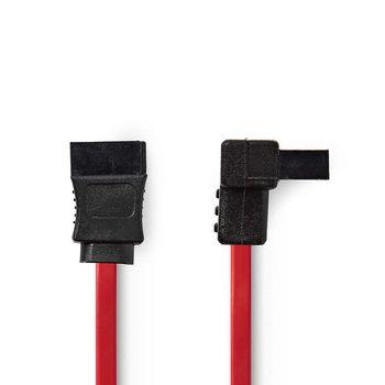 Cavo dati SATA 3 Gb/s | SATA a 7 pin femmina - SATA a 7 pin femmina con angolo a 90° | 0,5 m | Rosso