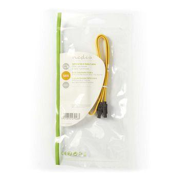 Cavo dati SATA 6 Gb/s   SATA a 7 pin femmina con blocco - SATA a 7 pin femmina con blocco   0,5 m   Giallo