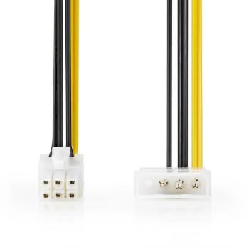 Cavo di alimentazione interno | Molex maschio - PCI Express maschio | 0,15 m | Differenti