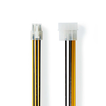 Internal Power Cable | Molex Male - PCI Express Male | 0.15 m | Various