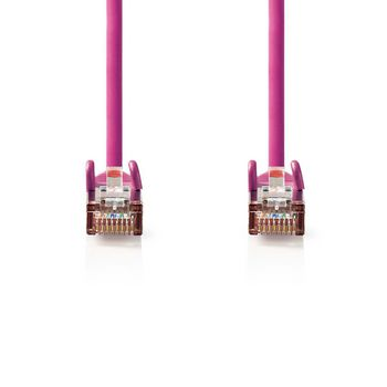 CAT5e SF/UTP-Netwerkkabel | RJ45 Male - RJ45 Male | 10 m | Roze