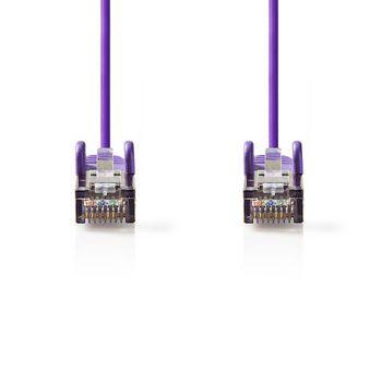 CAT5e SF/UTP-Netwerkkabel   RJ45 Male - RJ45 Male   0,25 m   Paars