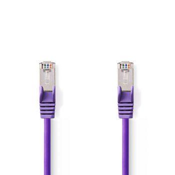 CAT5e SF/UTP-Netwerkkabel | RJ45 Male - RJ45 Male | 7,5 m | Paars