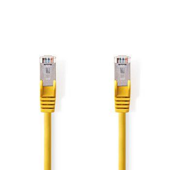 CAT5e SF/UTP-Netwerkkabel | RJ45 Male - RJ45 Male | 7,5 m | Geel