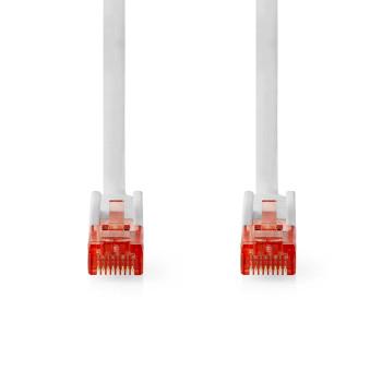 Cable de Red CAT6 UTP | Conector RJ45 (8P8C) Macho - Conector RJ45 (8P8C) Macho | 0,5 m | Blanco