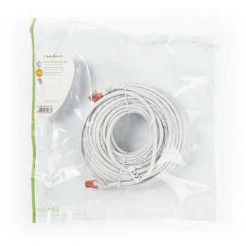 Cable de Red CAT6 UTP | Conector RJ45 (8P8C) Macho - Conector RJ45 (8P8C) Macho | 20 m | Blanco