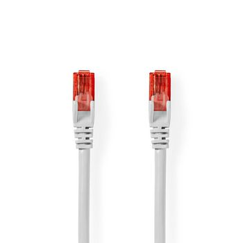 Cable de Red CAT6 UTP | Conector RJ45 (8P8C) Macho - Conector RJ45 (8P8C) Macho | 5,0 m | Blanco