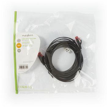 Cable de Red Plano CAT6 UTP | RJ45 Macho - RJ45 Macho | 5,0 m | Negro
