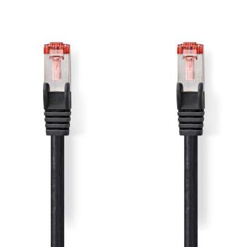 Cat 6 S/FTP Network Cable | RJ45 Male - RJ45 Male | 0.5 m | Black