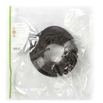 Cat 6 S/FTP Network Cable | RJ45 Male - RJ45 Male | 20 m | Black