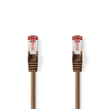 Cat 6 S/FTP Network Cable   RJ45 Male - RJ45 Male   0.5 m   Brown
