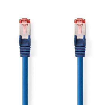Cable de Red CAT6 S/FTP | RJ45 Macho - RJ45 Macho | 0,25 m | Azul