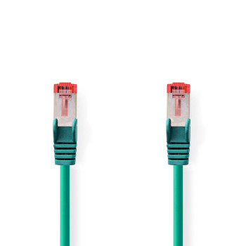 Cable de Red CAT6 S/FTP | RJ45 Macho - RJ45 Macho | 0,15 m | Verde