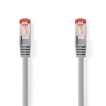 Cable de Red CAT6 S/FTP | RJ45 Macho - RJ45 Macho | 0,15 m | Gris