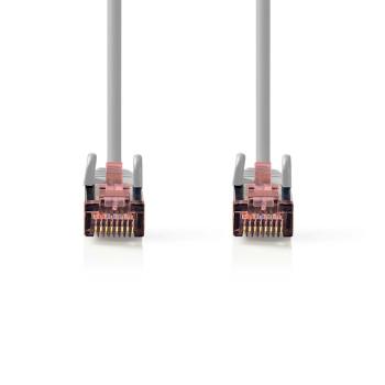 Cable de Red CAT6 S/FTP | RJ45 Macho - RJ45 Macho | 0,25 m | Gris