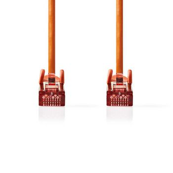 Cat 6 S/FTP Network Cable | RJ45 Male - RJ45 Male | 0.15 m | Orange